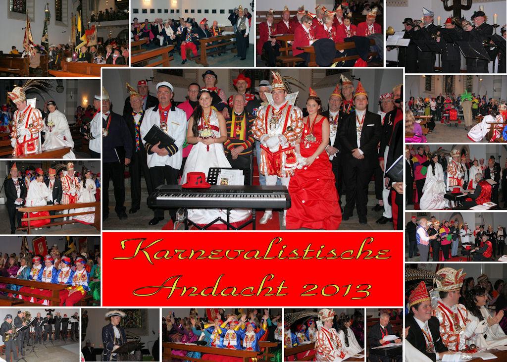 2013.01.27 MGV karnevalistische Andacht (Montage)